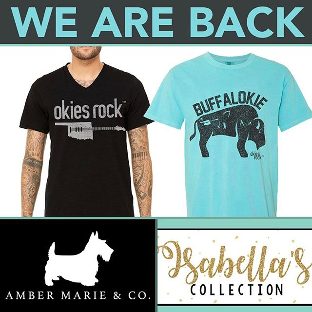 Guess who's back..back again..@okiesrock... TELL YOUR FRIENDS! Back in stock online and in stores at @ambermarieandco and @isabellascollection! #okiesrock