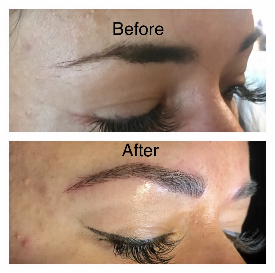 Before and After Brows by Jeannie