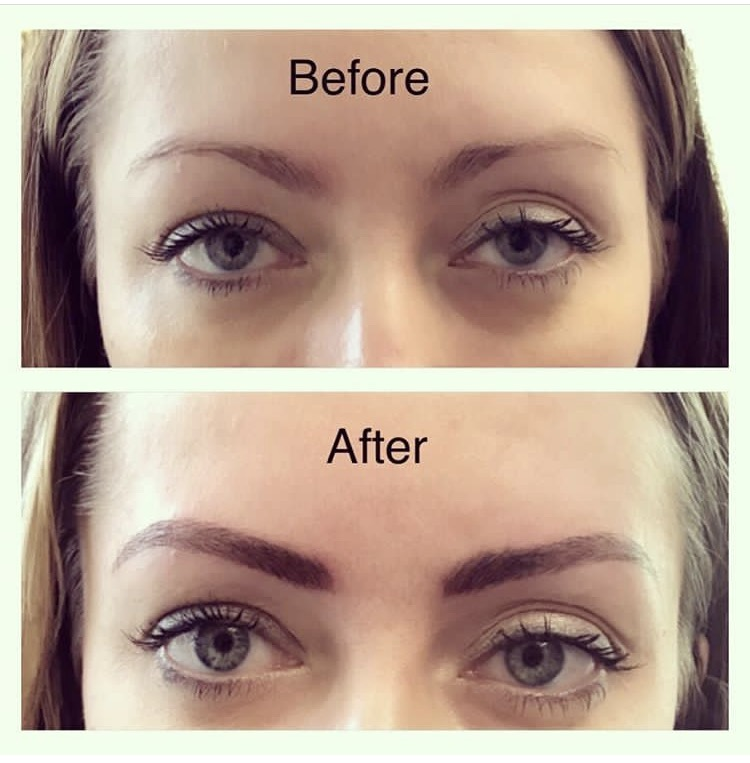 Before and After MicroBladed Brows by Jeannie