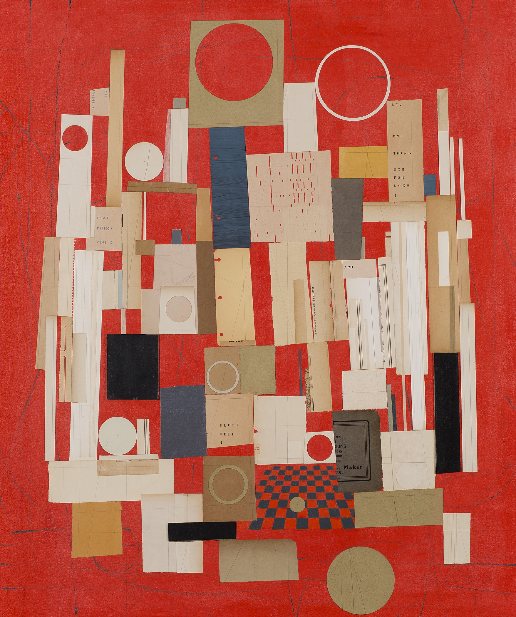 """Jacqueline Dee Parker, """"Blue (in a Red State),"""" mixed media, 46 x 38.5 inches"""