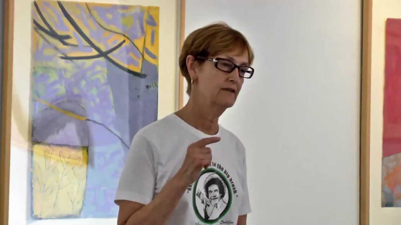 Monoprint artist Rosemary Goodell at a previous ARTiculate Artist Talk