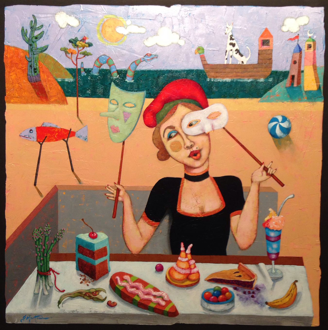 """David Horton, """"Lady's Choice,"""" oil on canvas, 36 x 36 in."""