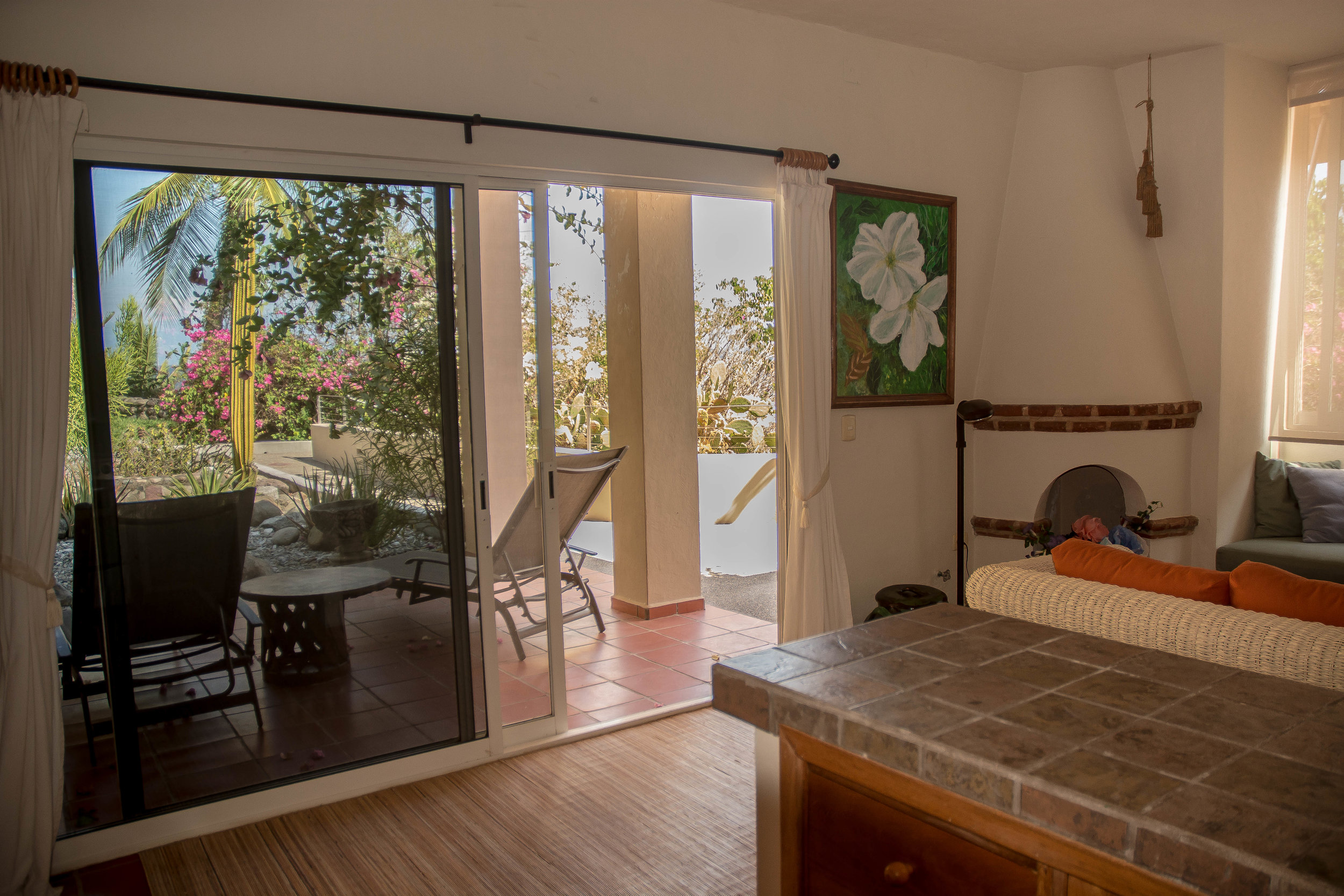 Lower deck kitchen/living room.