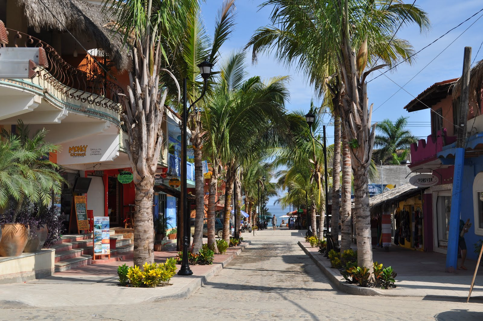 The casual beach village of Sayulita is a popular destination for surfers