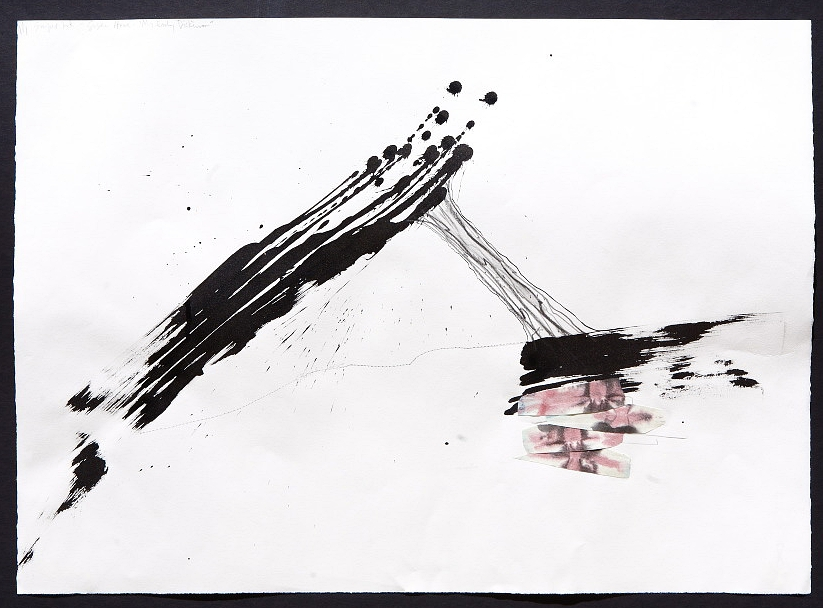 Audio Susan Howe (2013) mixed media on paper