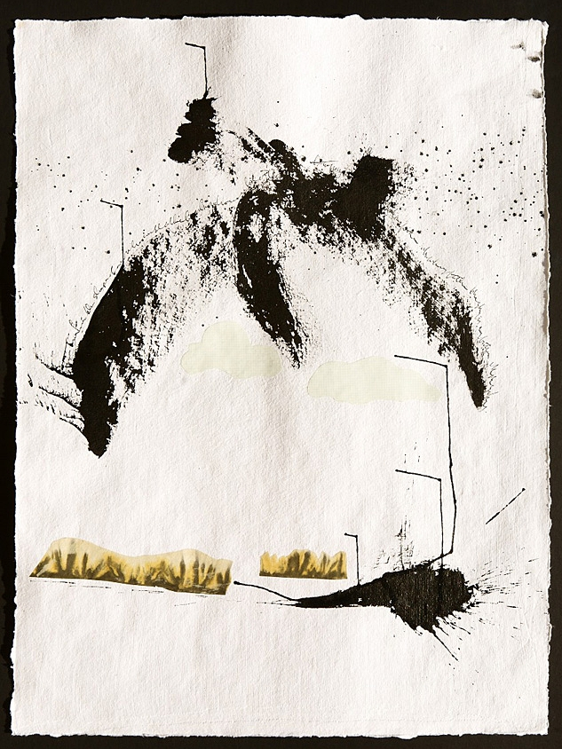 The World in a Cup of Water (2012) mixed media on paper
