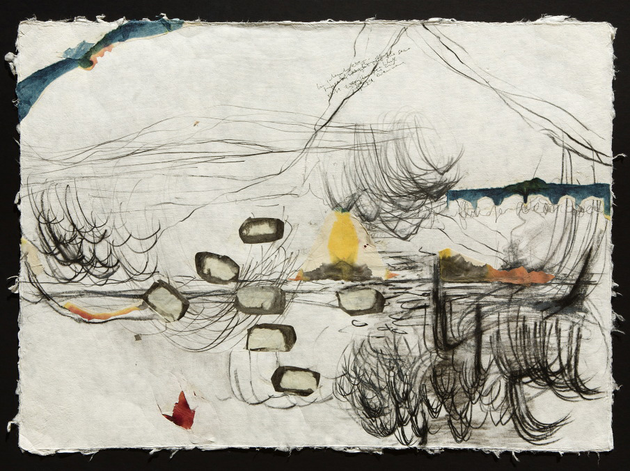 Memory Held in Water (2011) mixed media on paper