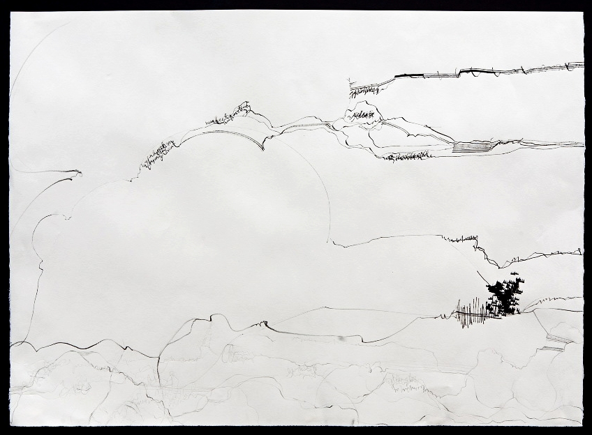 The Language of the Land (2011) ink on paper