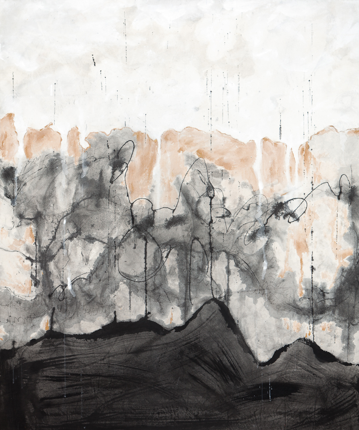 Landscape (2014) mixed media on canvas