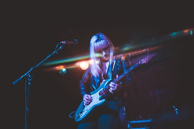 Shout out to @halliehertrick for being a badass 😎 check out her group @heyohwellband . . . Photo: @j.bartholomew_ . . . #thisiscle #clevelandmusic #rocknroll #fender #shred #badass