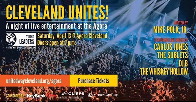 TONIGHT!  Can't wait to hang out with @carlosjones9840 @thesublets @mikepolkjr and all the lovelies supporting @unitedwaycle , this is going to be one hell of a night! . . . . . . . #thisiscle #clevelandmusic #clevelandrocks
