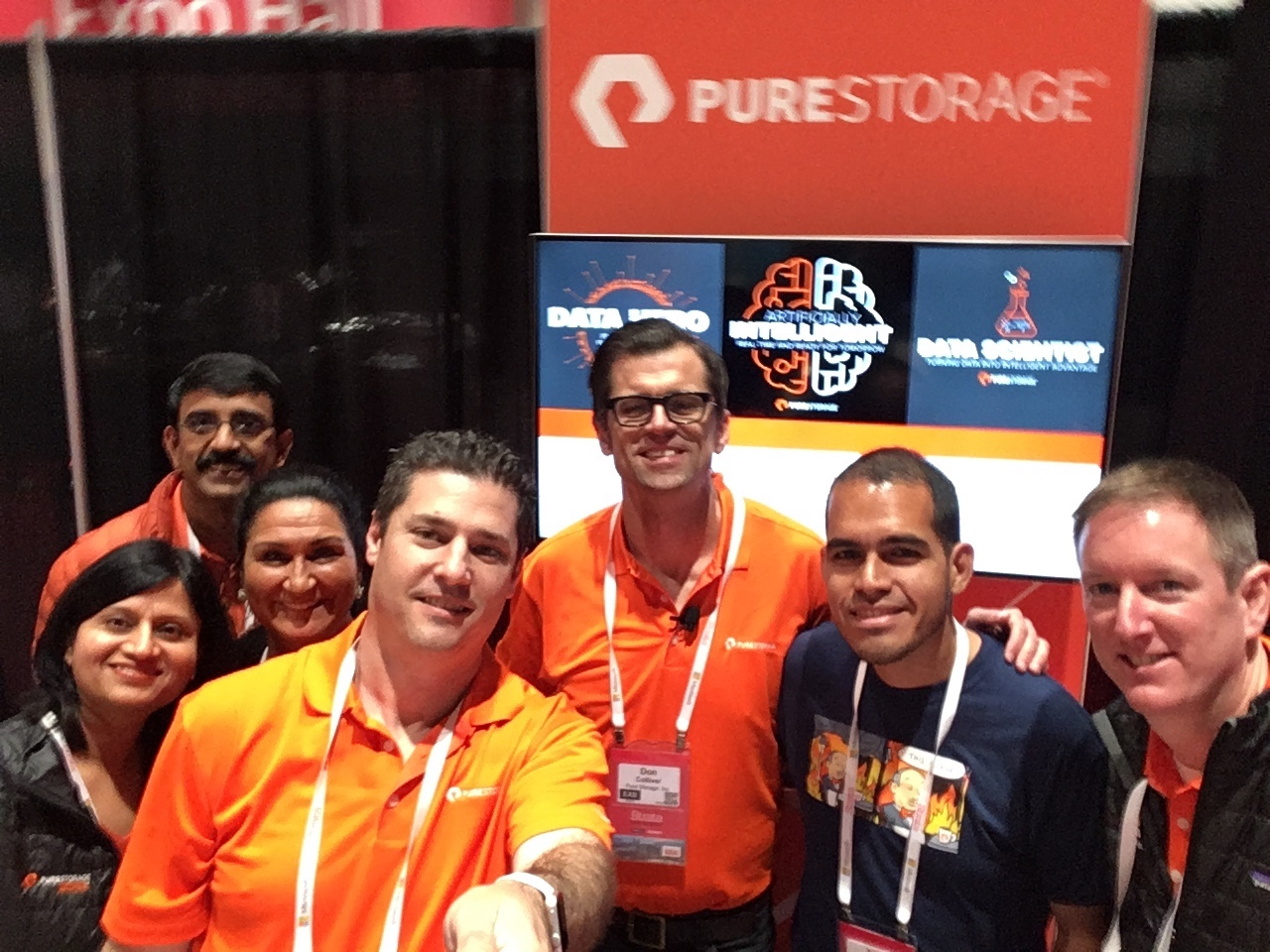 Professional trade show presenter Don Colliver with Pure Storage at Strata Data