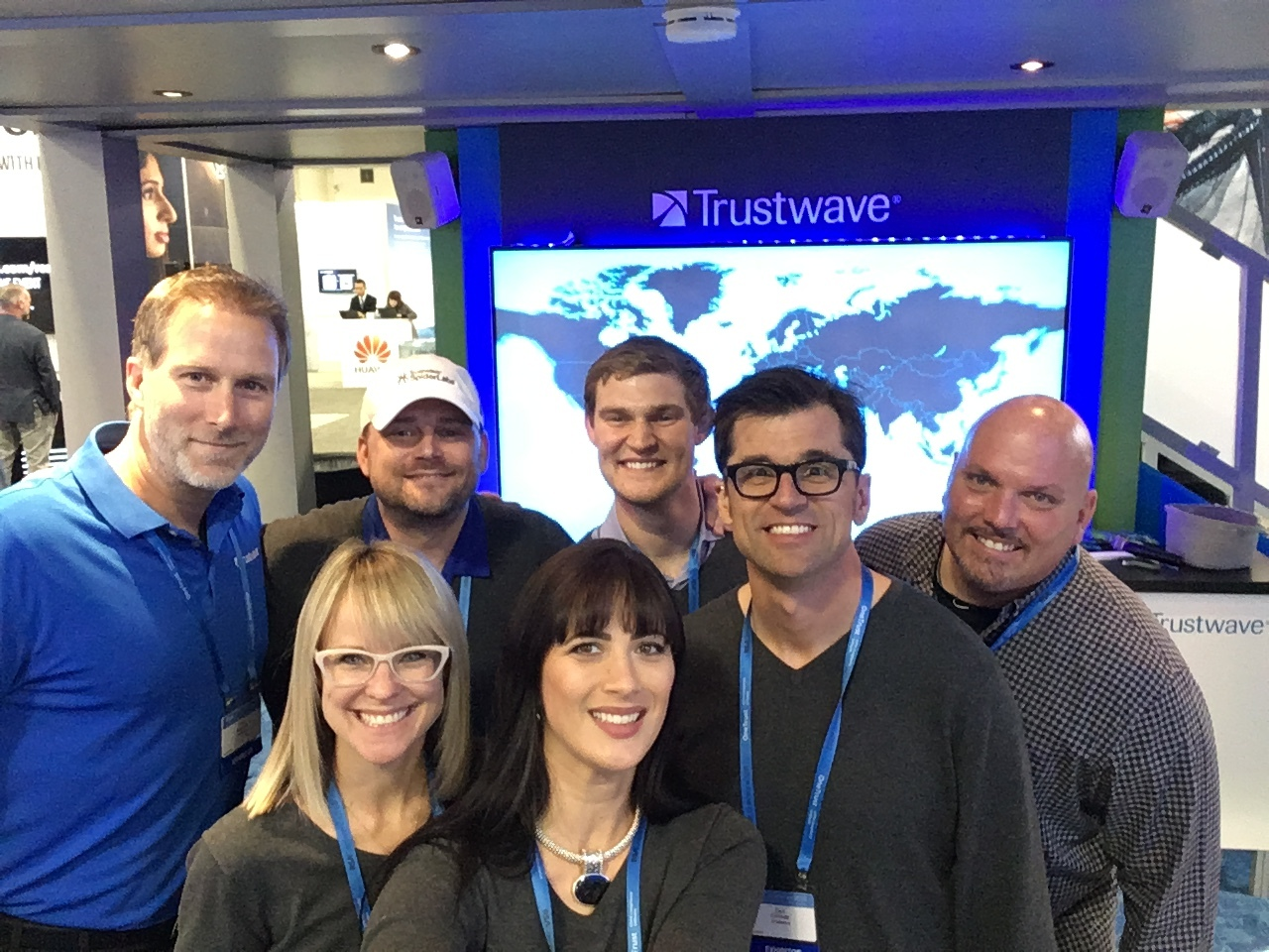 Trade show presenting for the Trustwave crew at RSA 2018