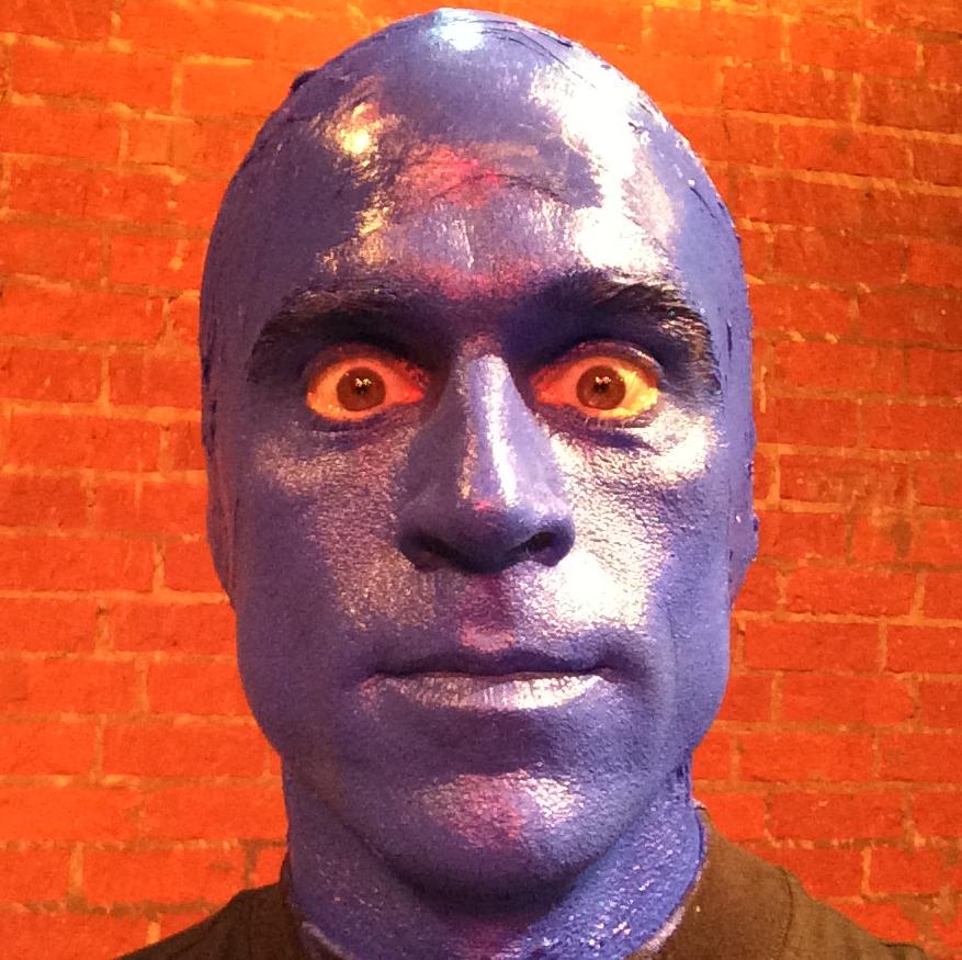 Don as Blue Man