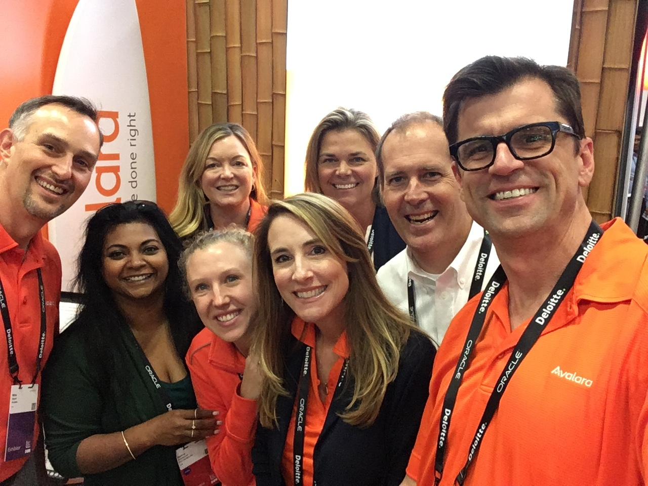 Avalara team with trade show emcee Don Colliver