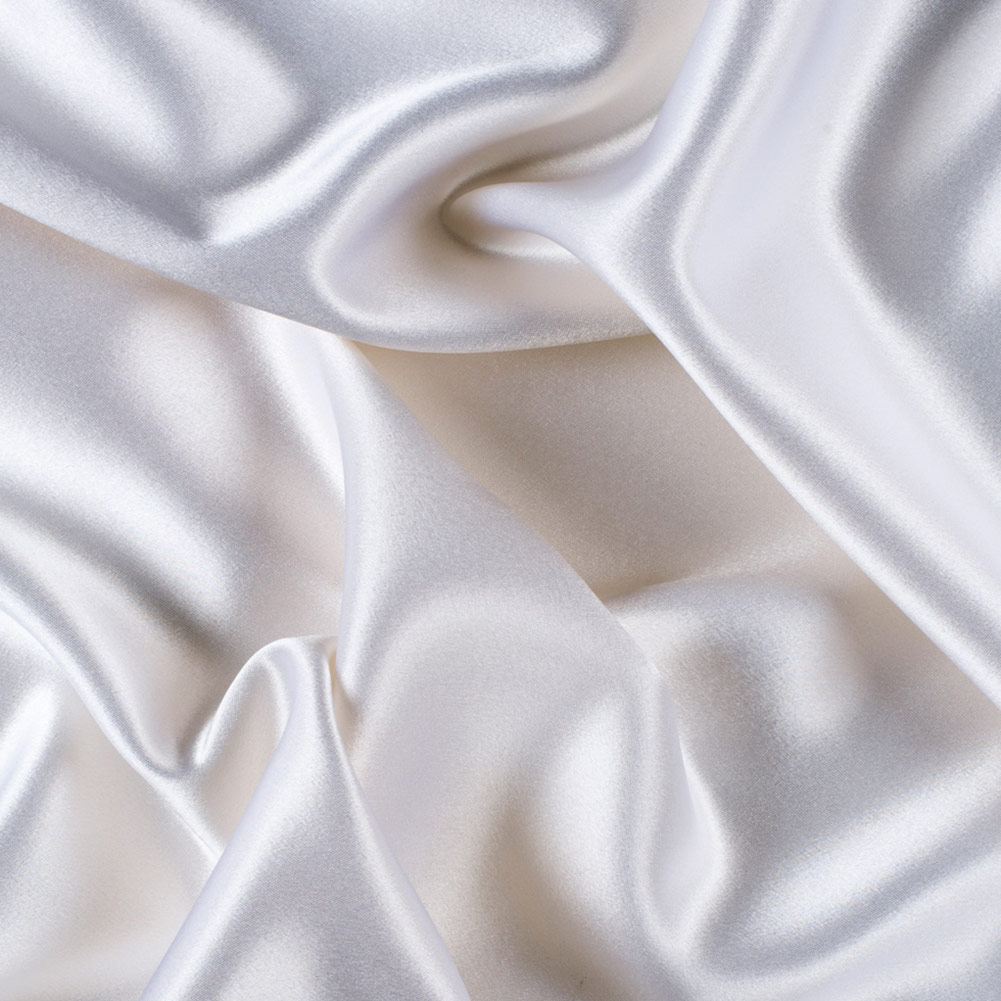 8000M196 45 Wide 100/% Silk Crepe Back Satin Black by the yard
