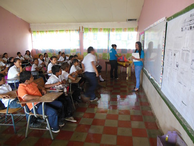 Students teaching Values in grade school