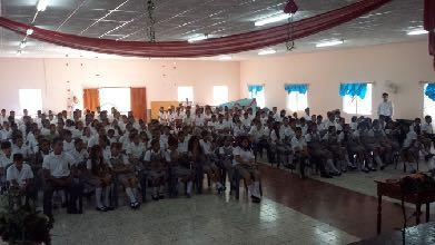 Student Seminar, School Bautista Victoria. Tues Oct 4