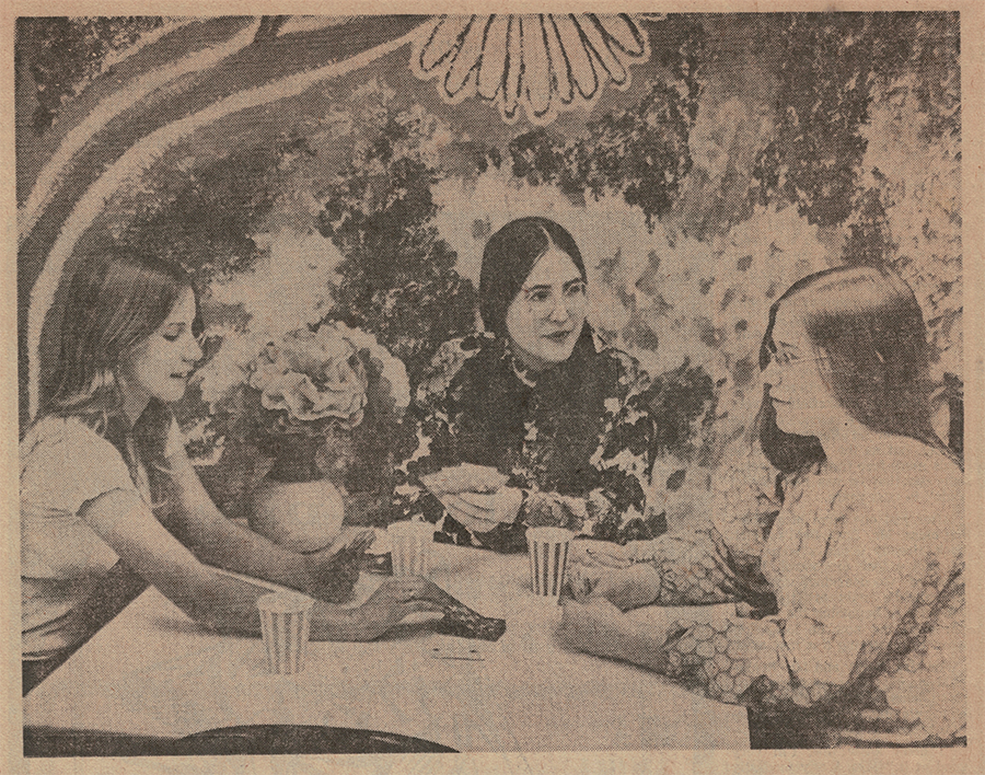 Amy with Ann Hicks and Janet Epp at the YWCA Teen Drop-In Center that they created in 1974 to serve the needs of teens in Springfield, Ohio.