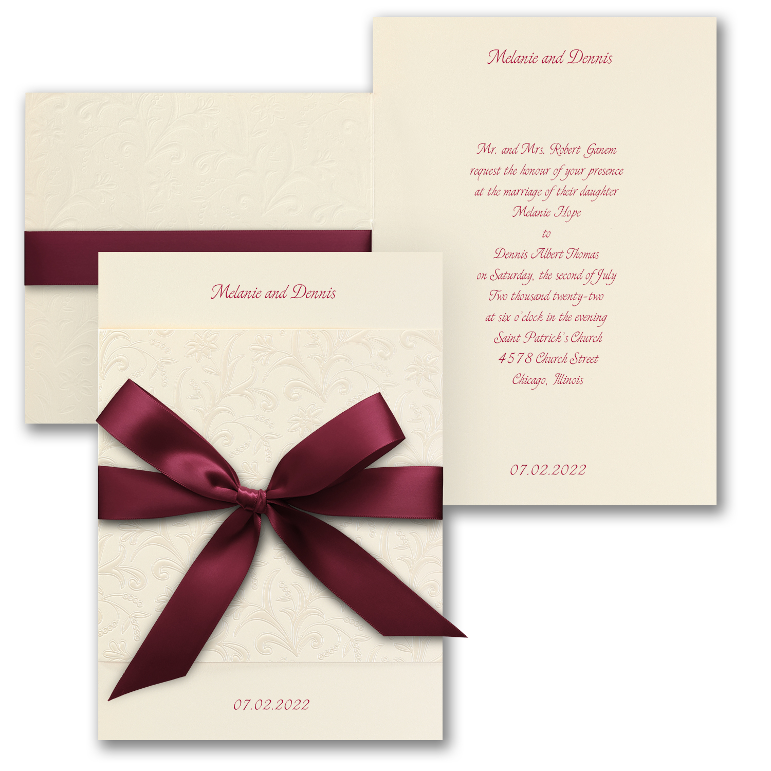 Wrapped Charm on Cream - Invitation    Item Number:KW504LT