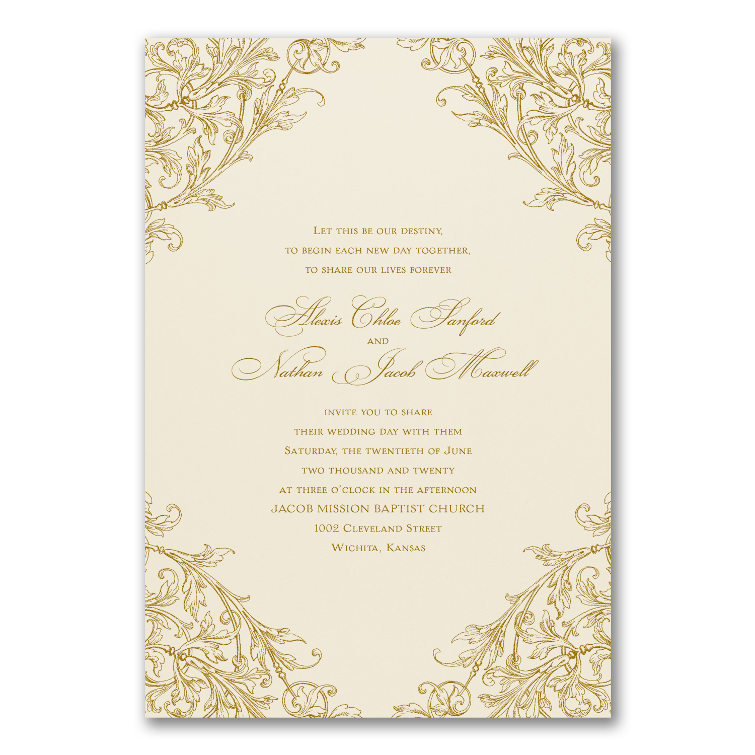 Elegant Romance - Invitation    Item Number:BS40116