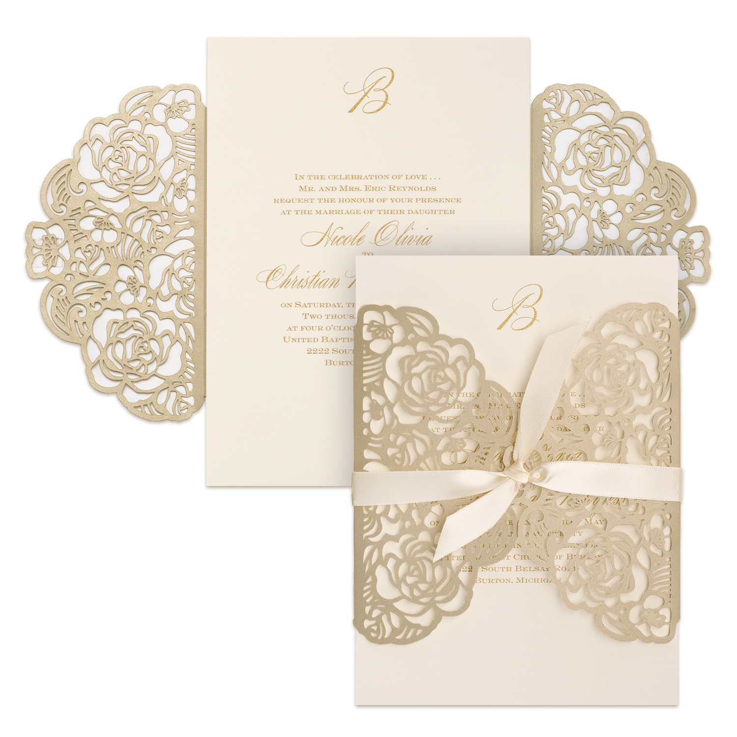 Sumptuous Rose - Invitation    Item Number:BSN39944