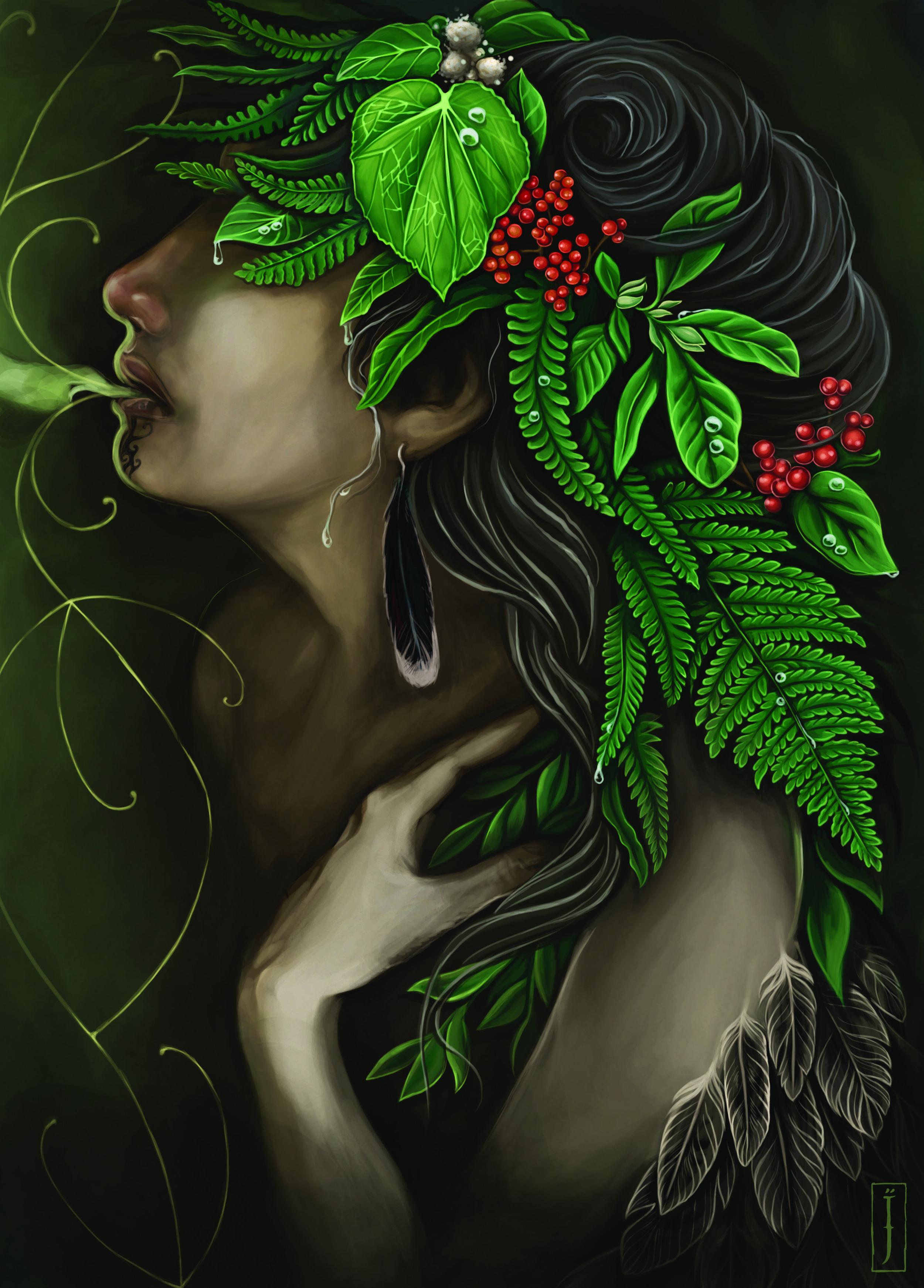 'Whakangā, we are one with the earth' by Isobel Joy Te Aho-White