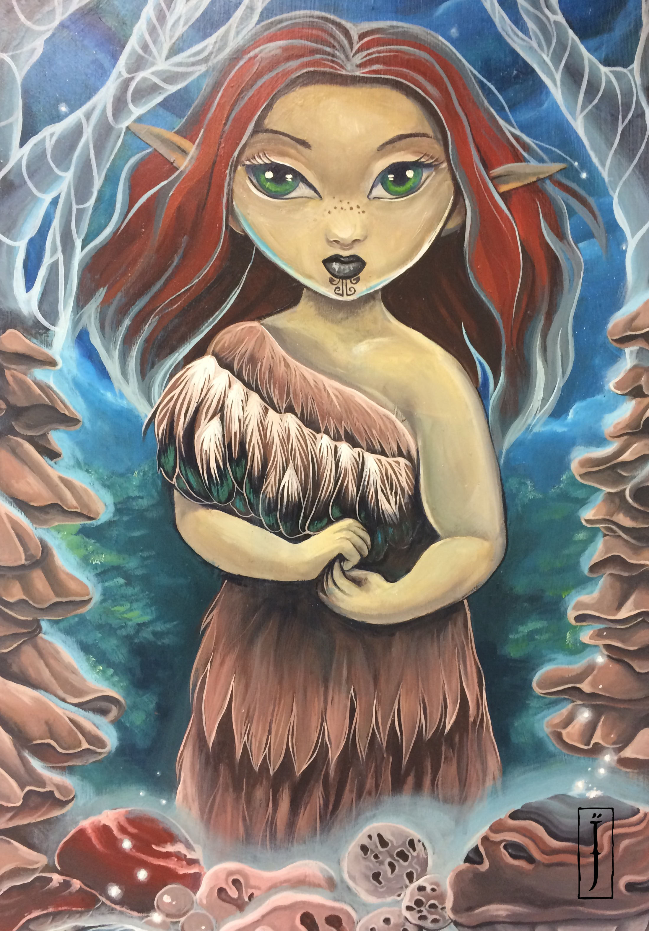 'Ihongaro, lost child' by Isobel Joy Te Aho-White