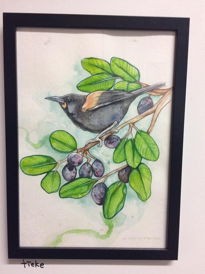 Original watercolor by Isobel Joy Te Aho-White.