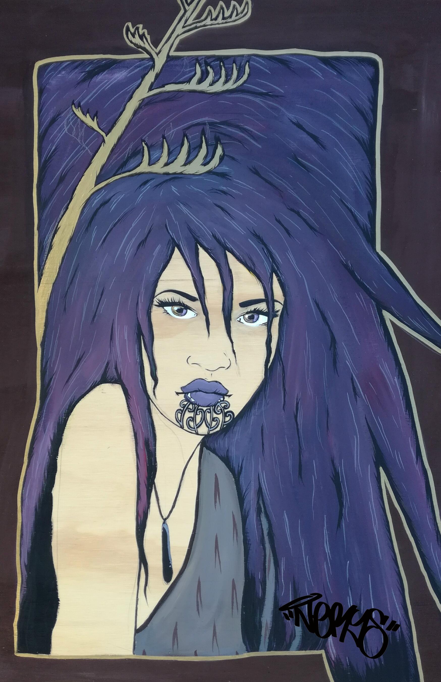 'Whakawai, will o' the wisp' by Nerys Baker.