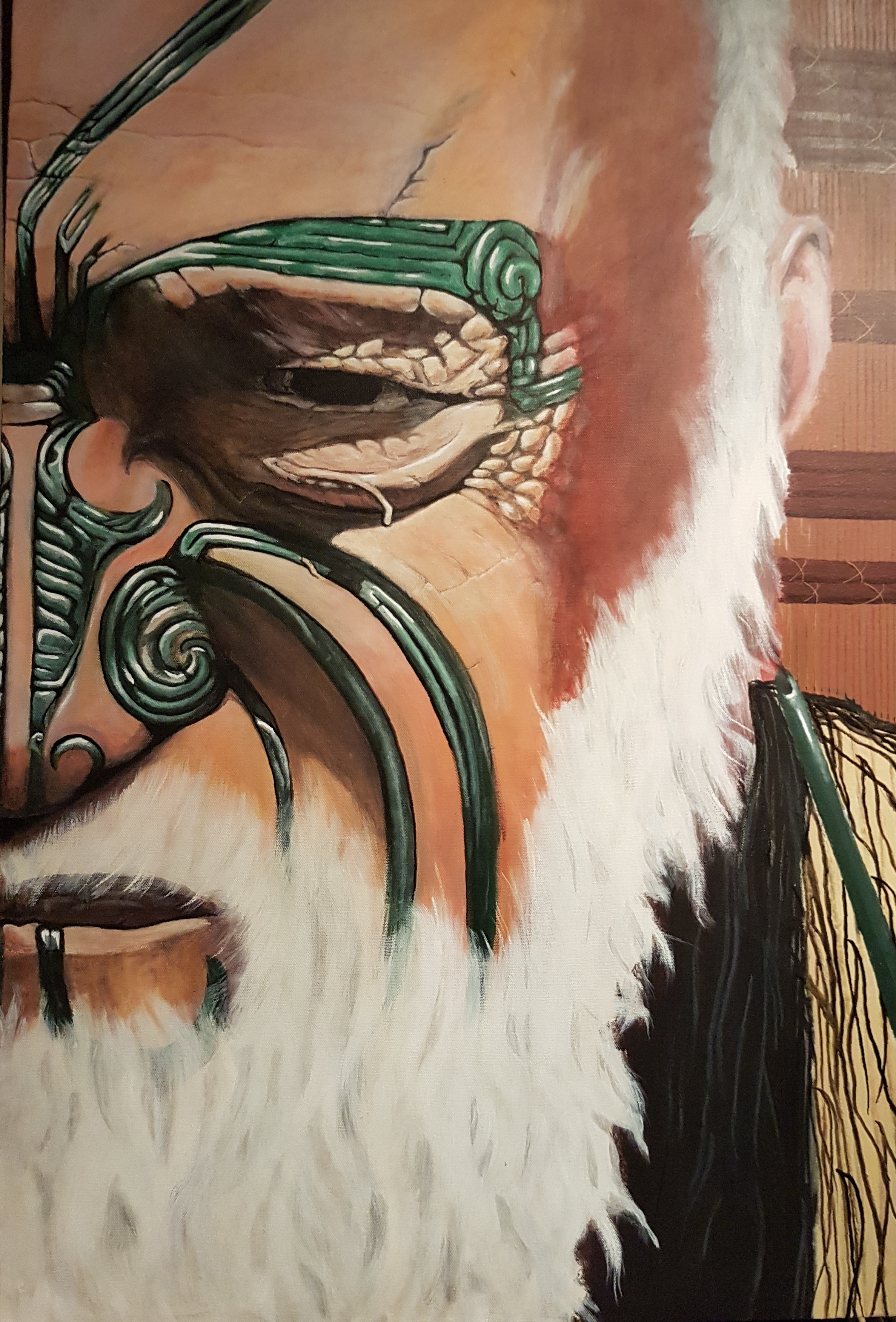 'Noble Rangatira'  by Te Rahui Nicholls. Click   here   to learn more about this work or to  BUY YOURS NOW.