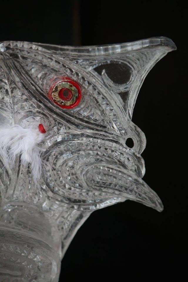 Detail of 'Tauihu' by George Nuku.