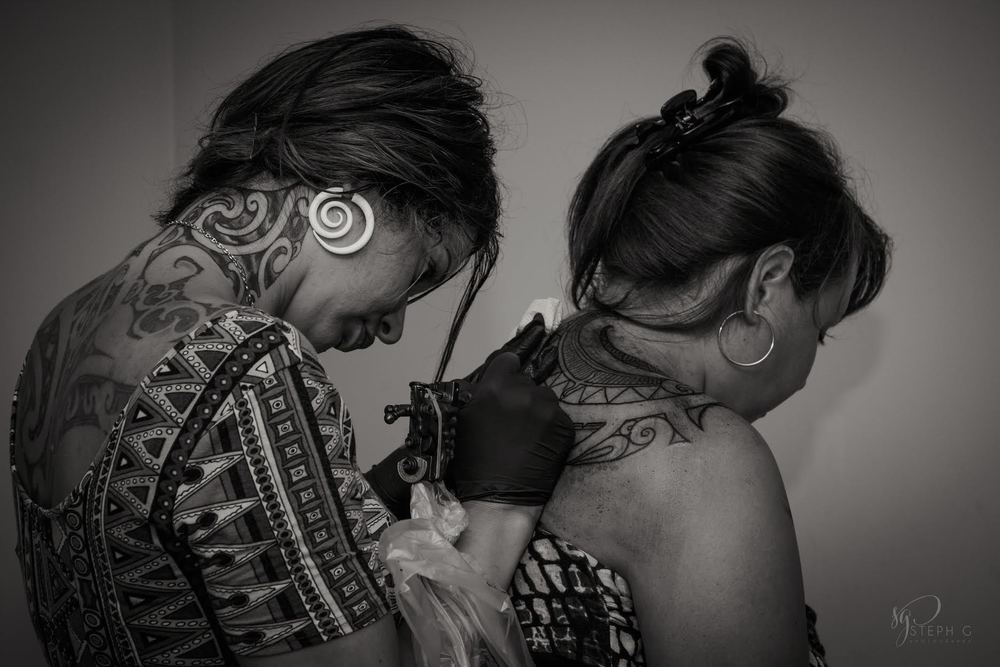 Tā moko cultural tattooer,   Taryn Beri.
