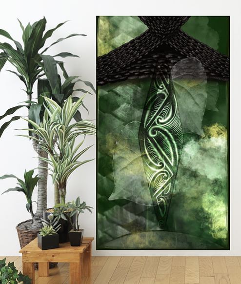 'Pounamu Ahau'  by  Lorna Tawhiti.  Click on the image to view more details.