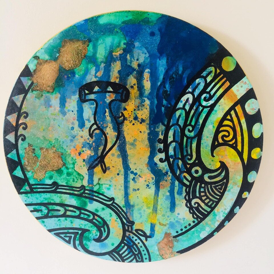 'Hinemoana III' by Taryn Beri showing at Māori Modern 2019.