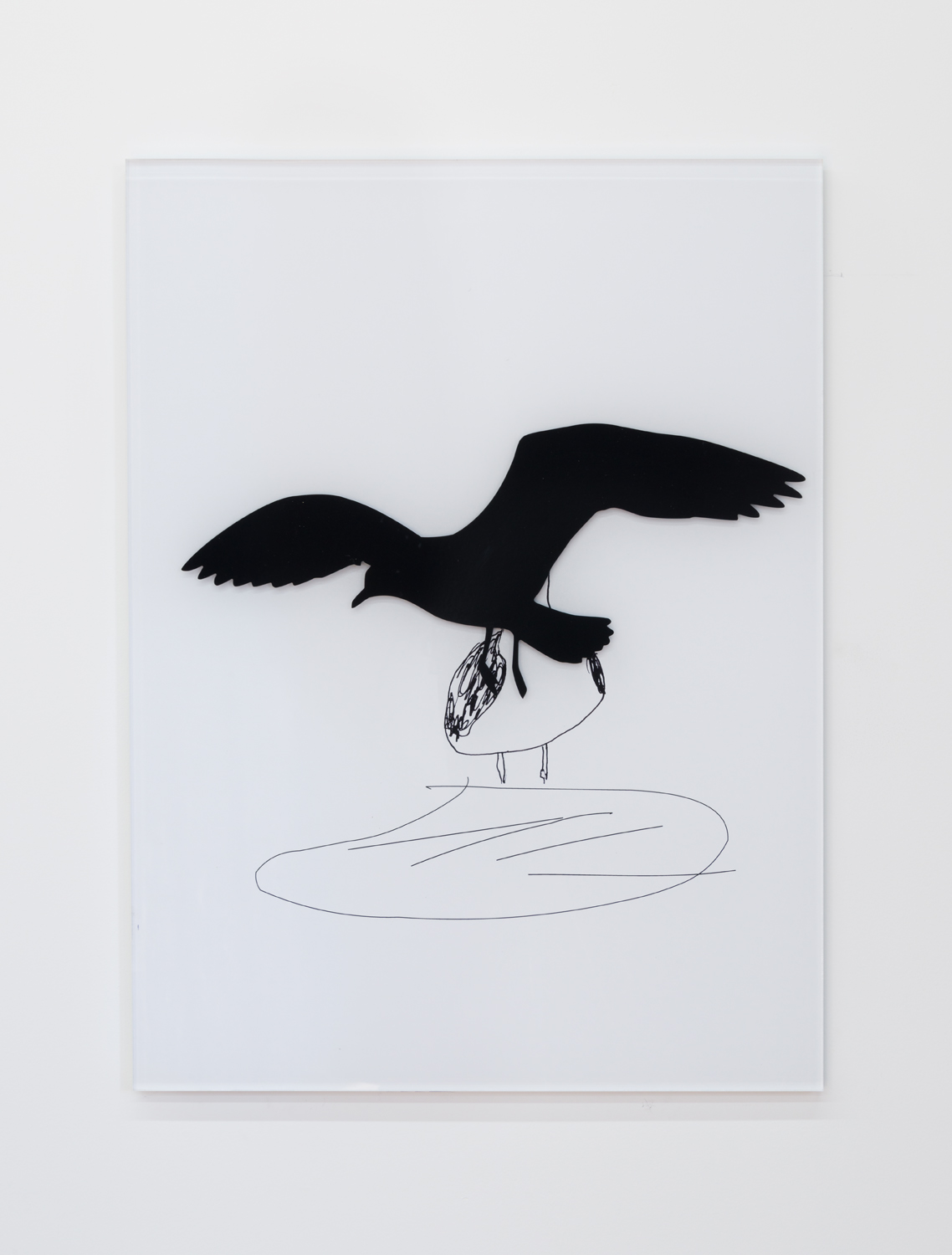 Eagull 2  , 2017 SAV and direct print on 1/2 clear acrylic, 1/4 white acrylic 37.625 x 28 x .75 inches 95.6 x 71.1 x 1.9 cm