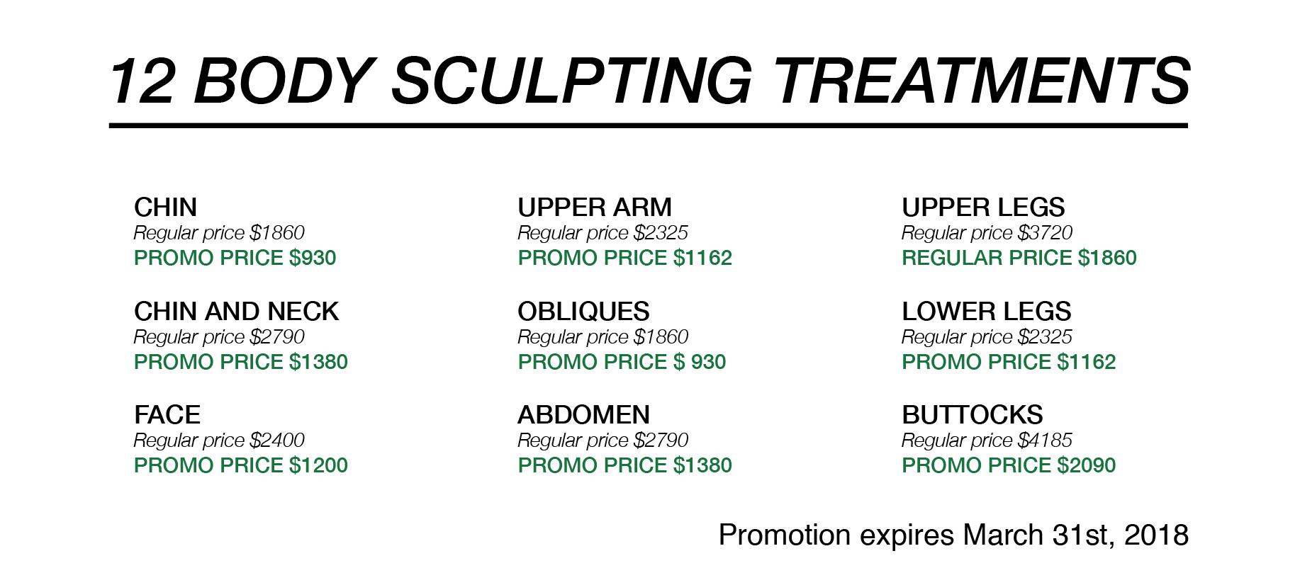 Body Sculpting Promotion