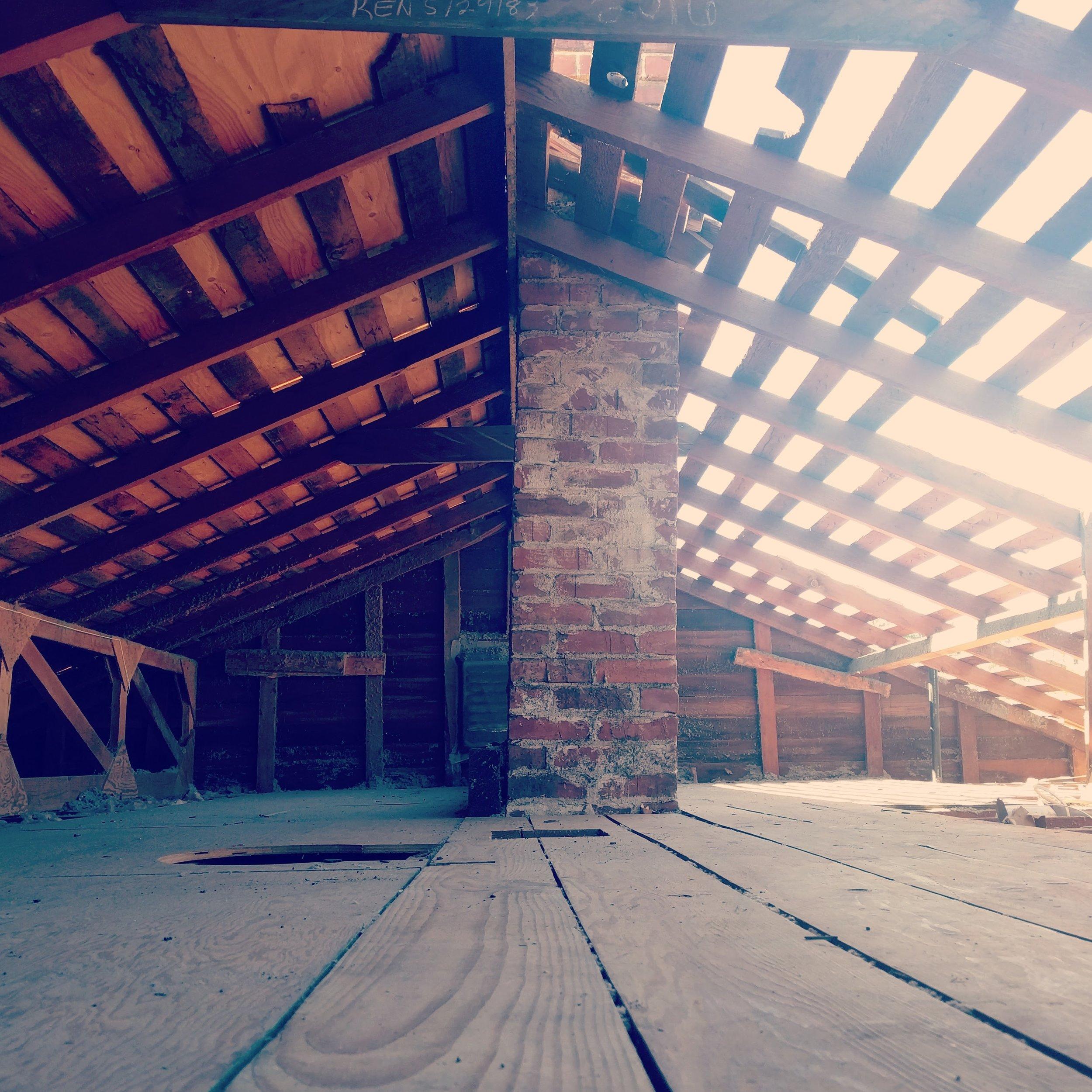 Roof replacement & rafter repair