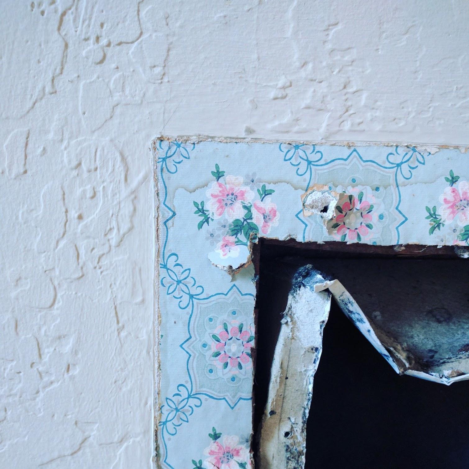 Before: textured plaster in nursery