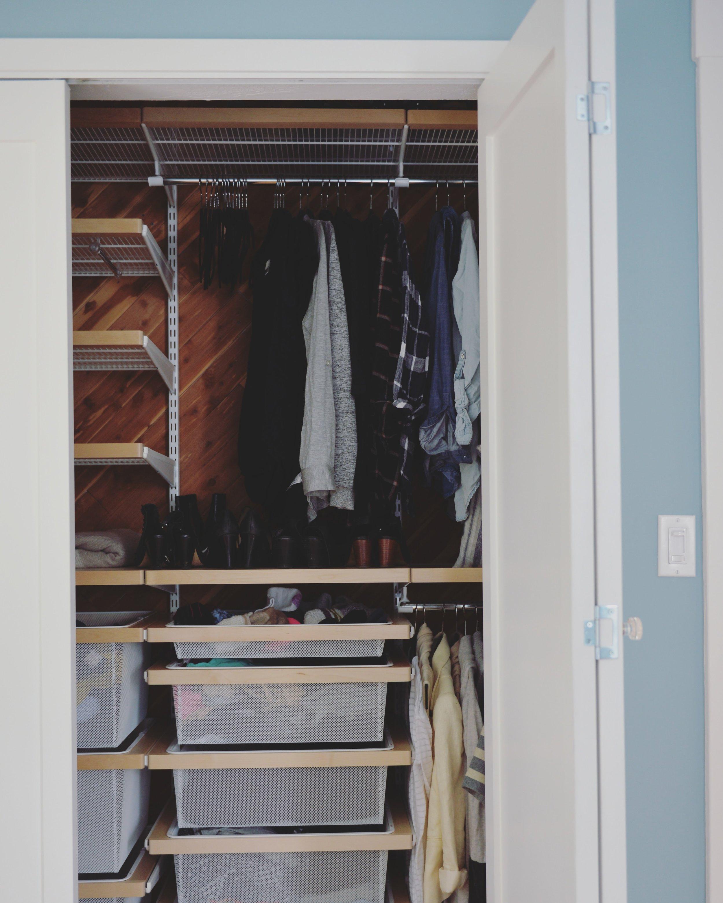 My half of the closet