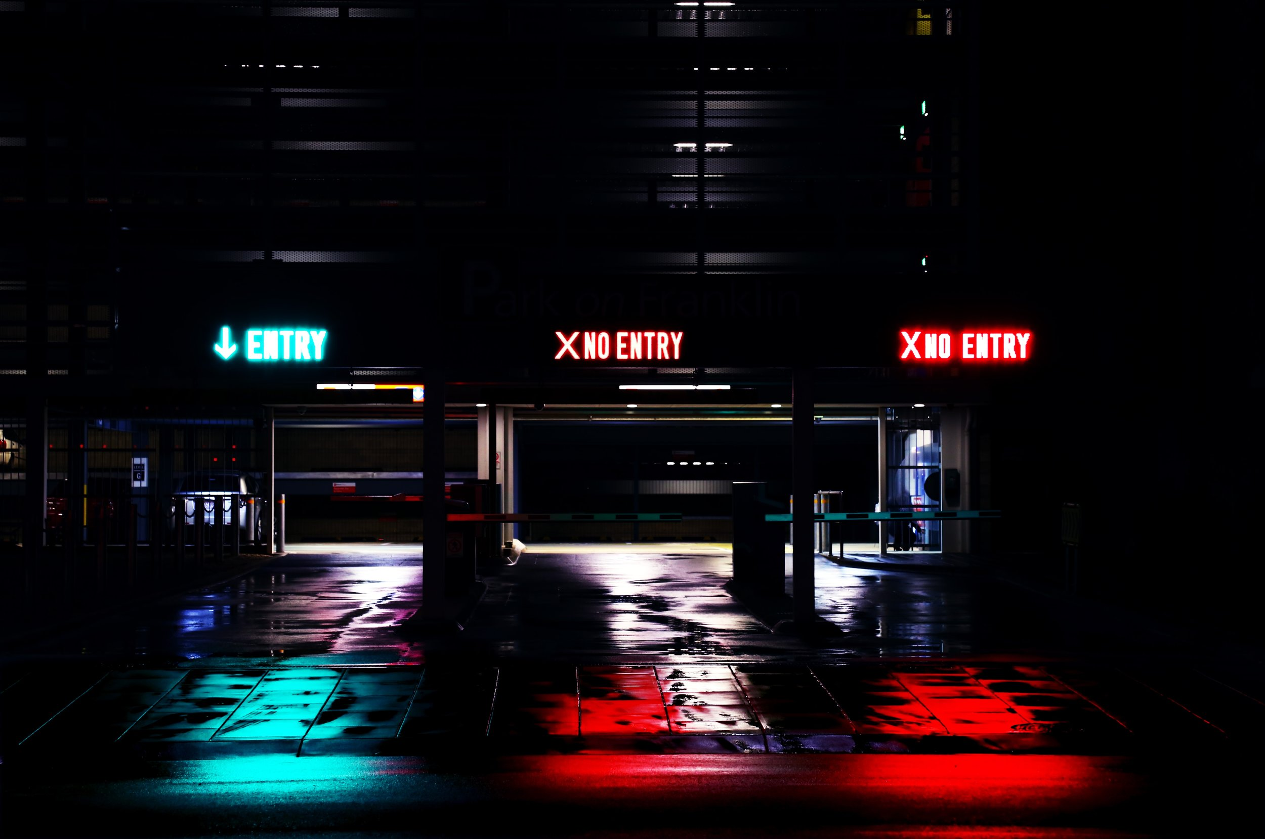 NYC Parking Garage Neon Sign