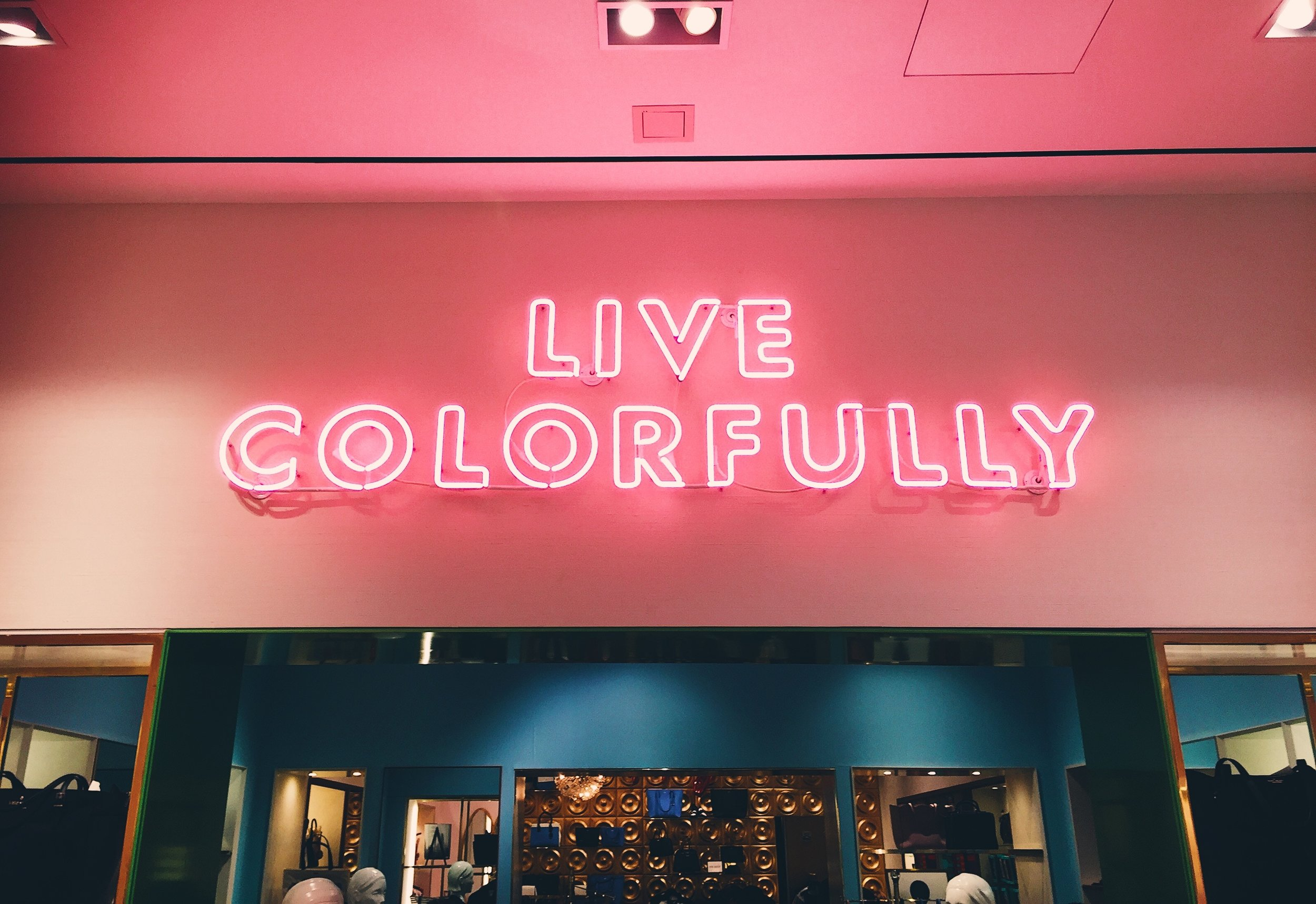 Live Colorful Pink Custom Neon Sign