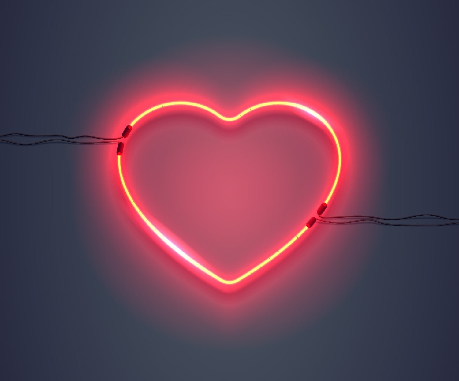 Neon Sign Heart Pink