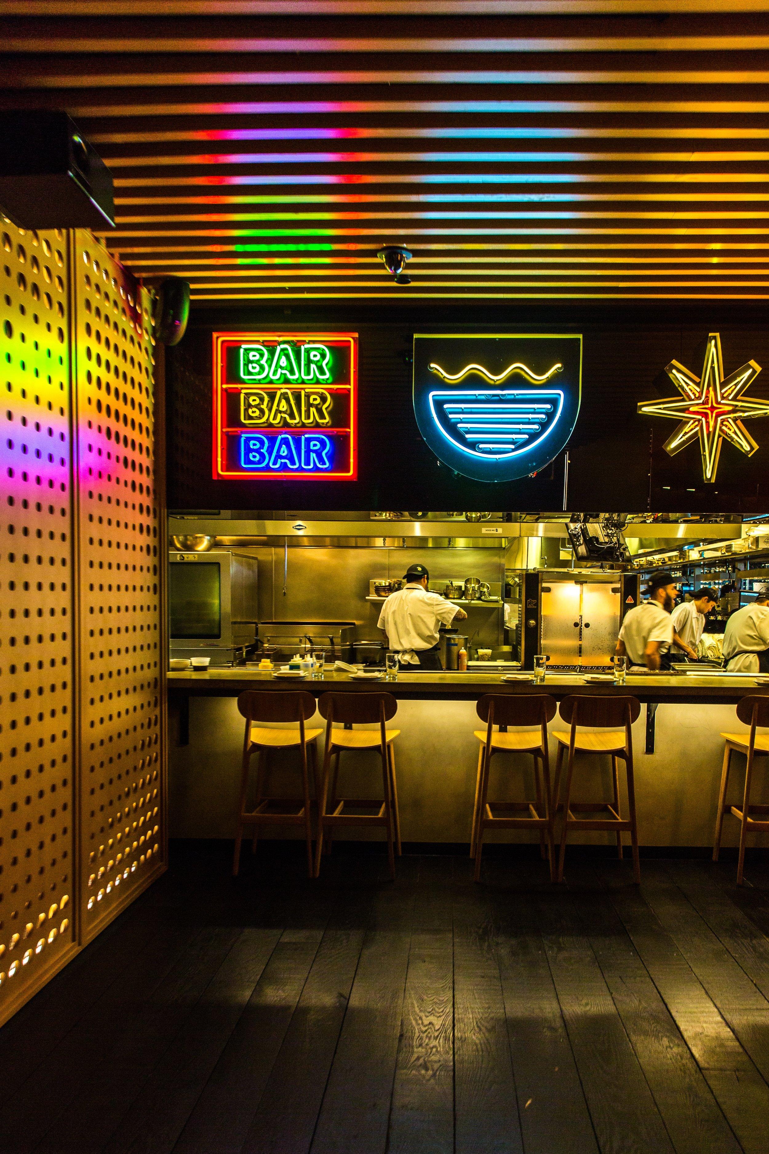 Neon Bar Sign Asian Restaurant