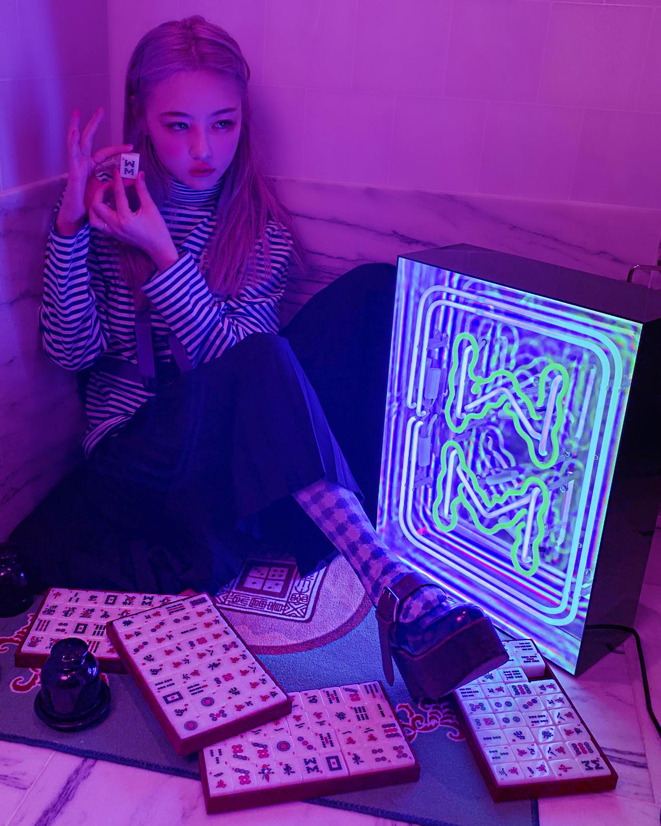 Juno Shen Mahjong Neon Sign