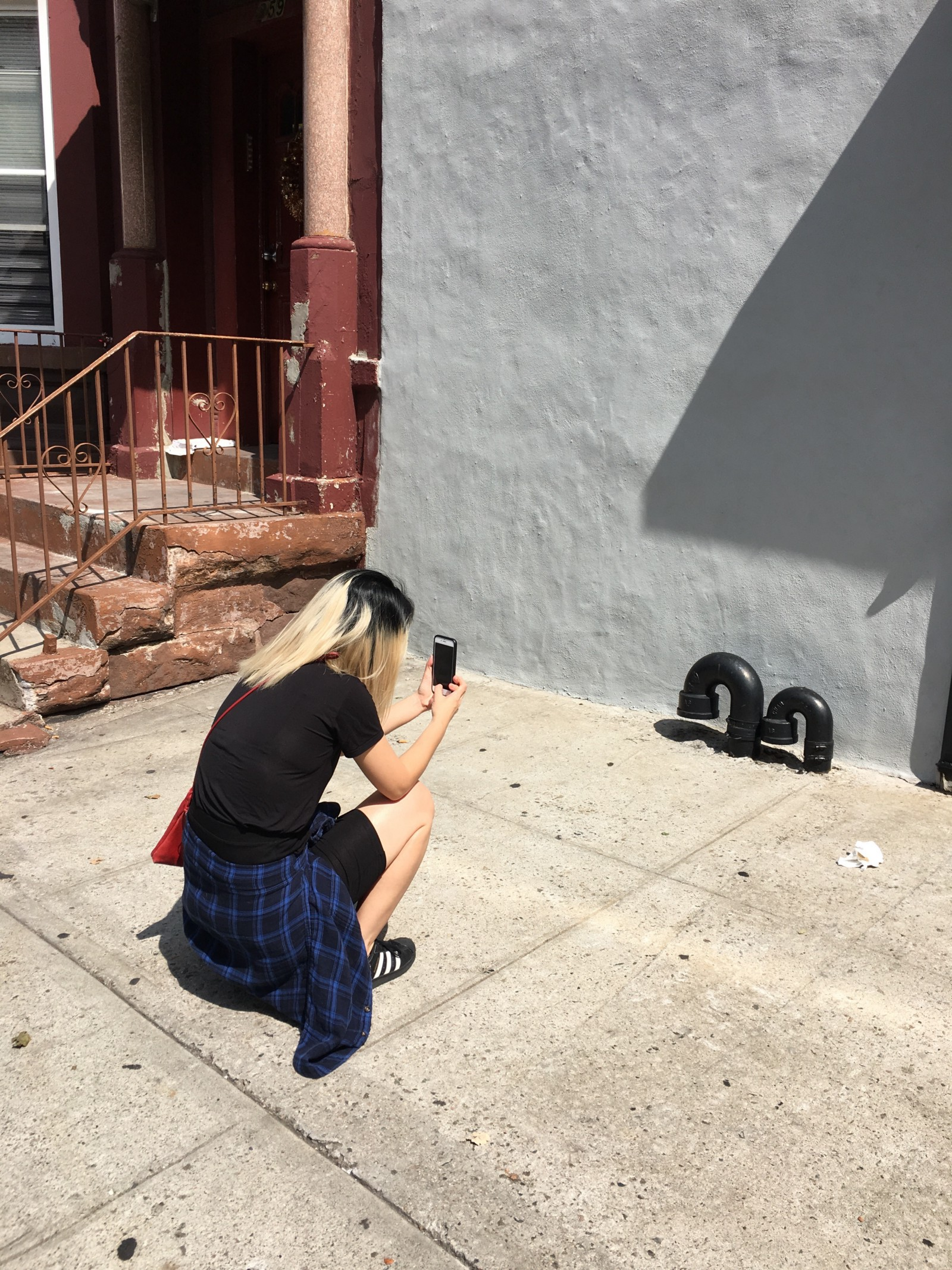Taking a photo of Hannah taking a photo.