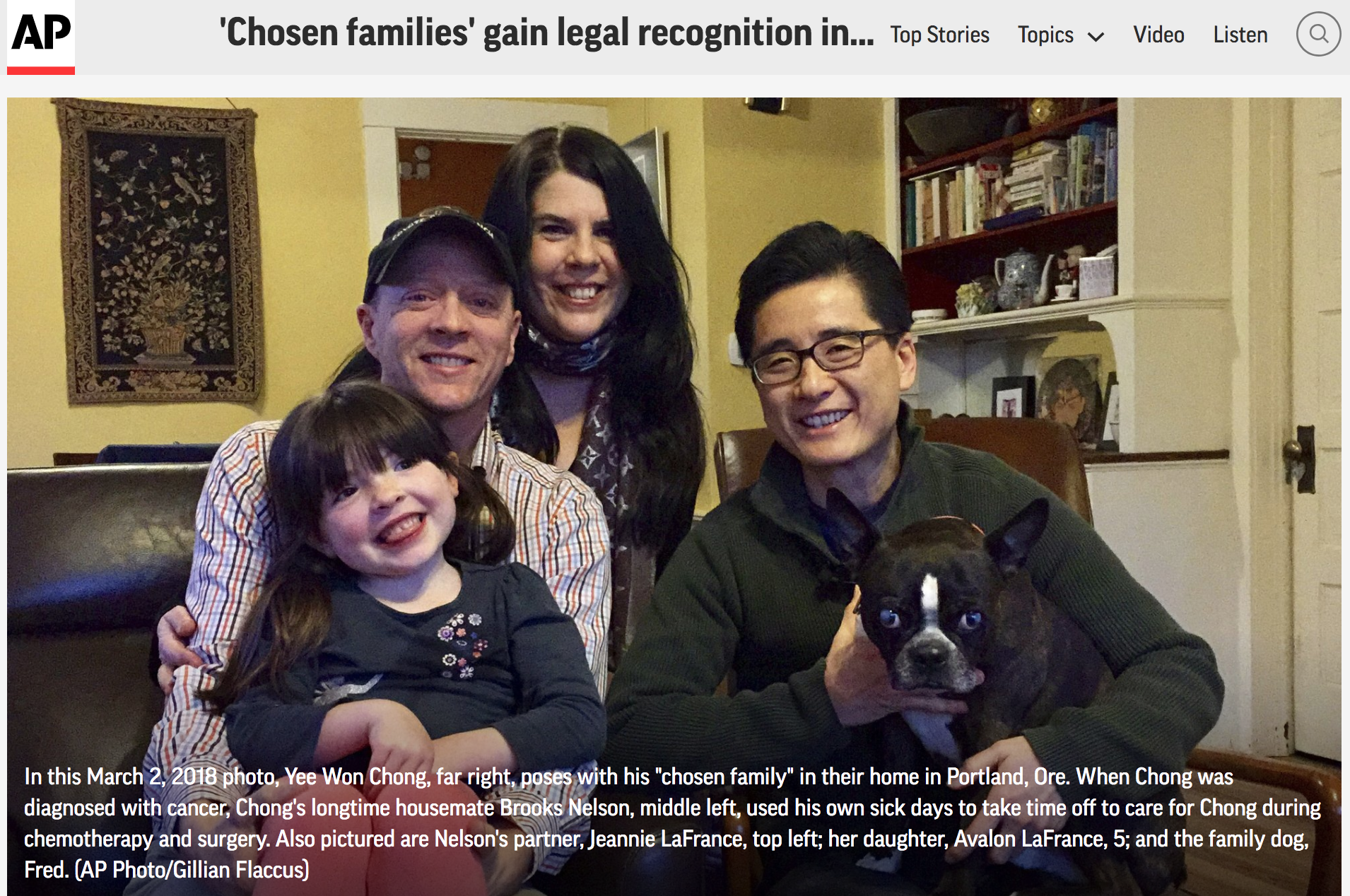 Associated Press - The concept of chosen families is a top highlight in Trans Dudes with Lady Cancer.