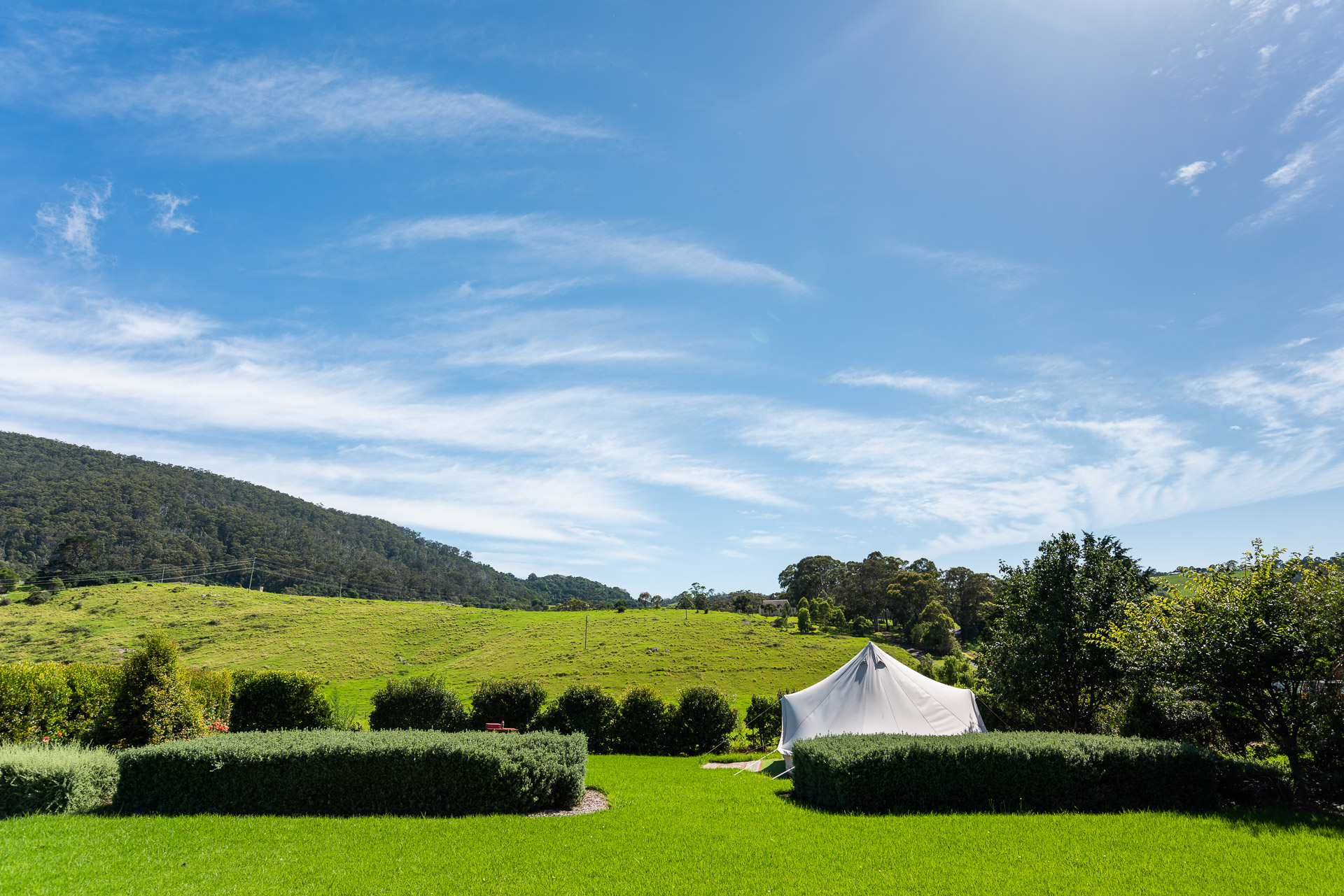 The Tent House - Gulaga: Garden and view over Gulaga.