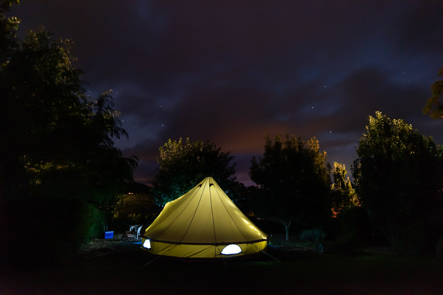 The Tent House - Najanuga: View of night sky.