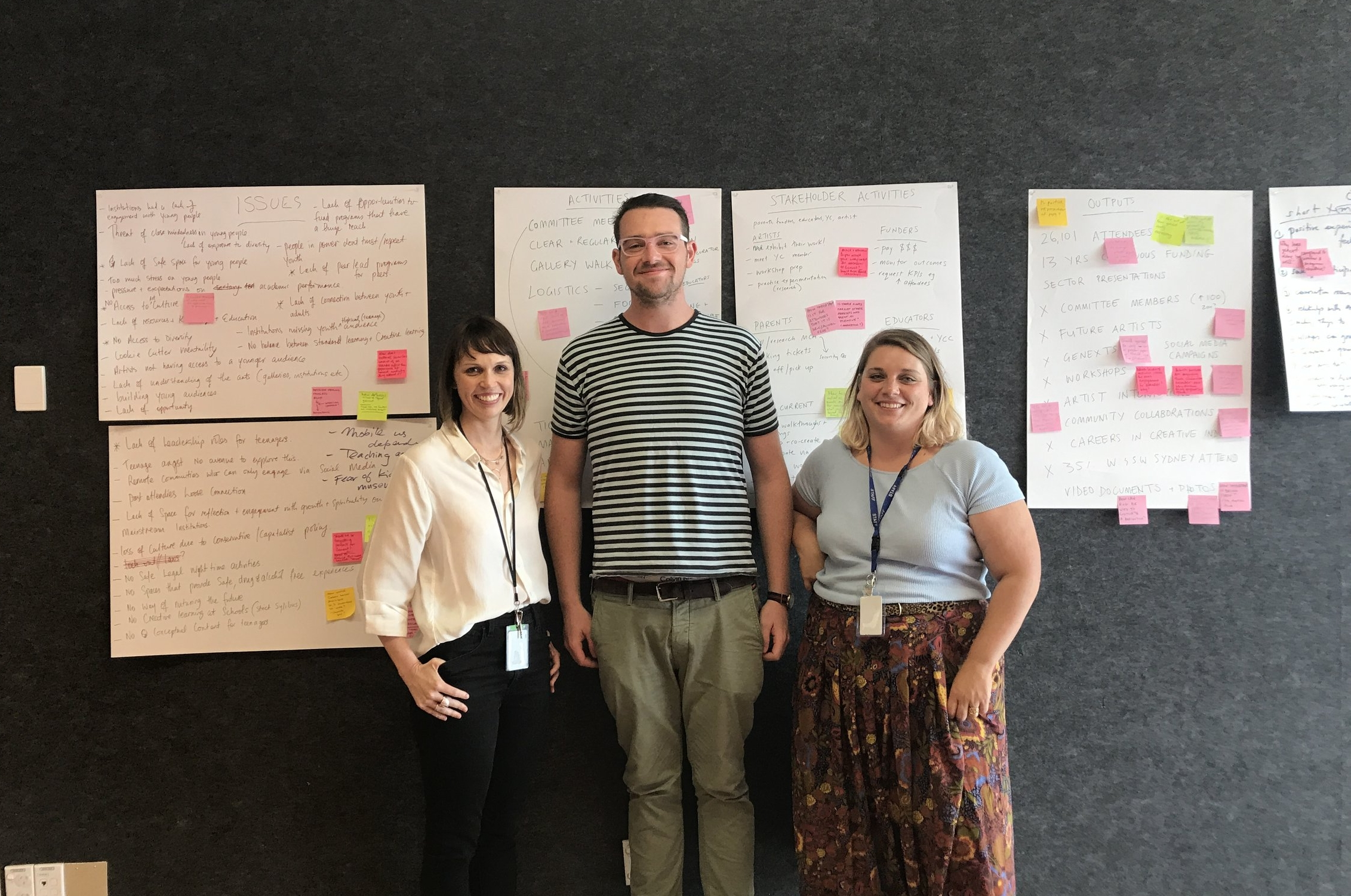 Co-designing the evaluation:Jo Higgins, Dylan Mighell and Jodie Whalen